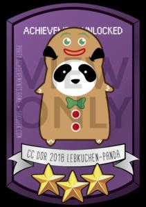 CC DOR 2018 Lebkuchen-Panda